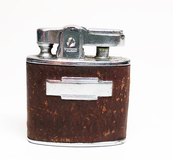 1940s Ronson Standard with a Brown Leather Wrap