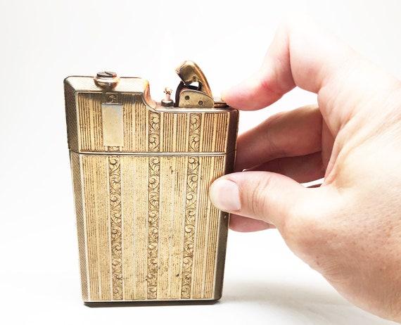 1930s Evans Lighter Cigarette Case Combo