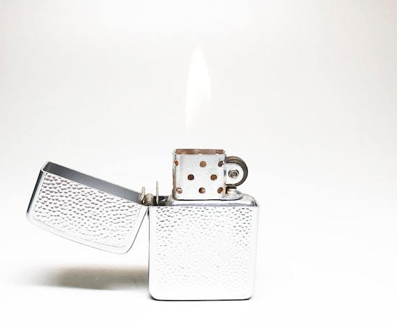 Textured Silver Toned 1950's Storm King Lighter