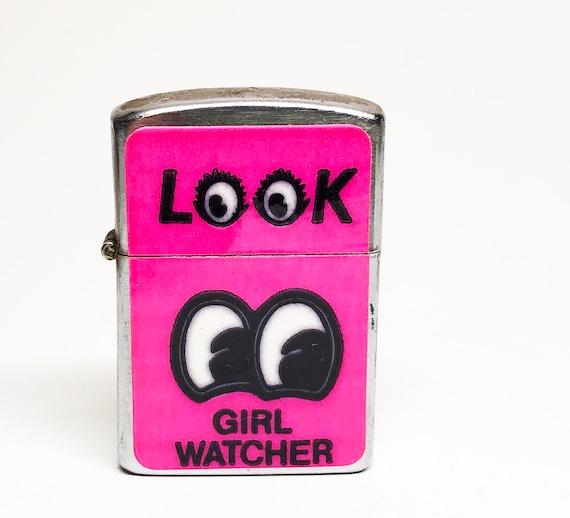 1950s Girl Watcher Flip Top Lighter