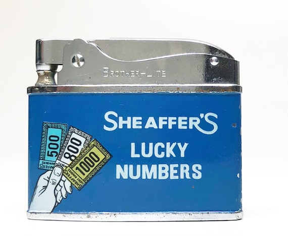 1950s Sheaffer's Lucky Numbers Beer Advertising Lighter