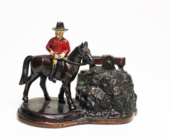 1950s Canadian Mountie on Horse Figural Lighter