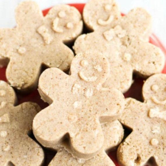 Gingerbread man soap bars