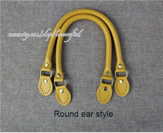 57a1bd9041a 1 pair 42cm 58cm length Micro Fiber Leather bag handle Microfiber Leather  Shoulder Bag Handles Purse Handle Yellow Round Ear handles
