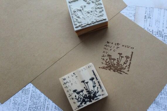 Flower Stamp 20mm Mini Stamps Gerbera Rubber Stamp S666 Cute Gerbera Stamp Planner Stamp 16mm