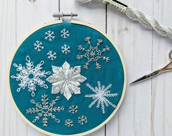 Snowflakes Hand Embroidery Pattern