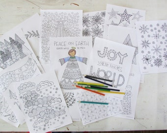 Christmas Hymns Coloring Book