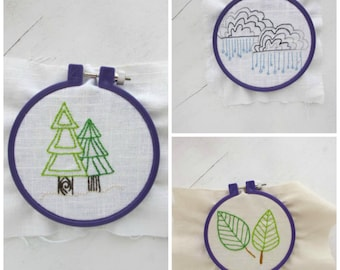 Hand Embroidery Pattern// Nature Collection