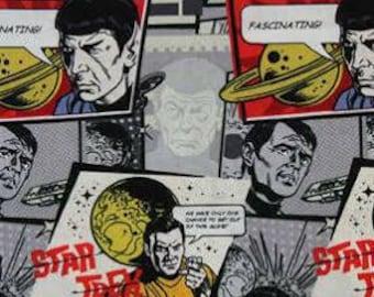 1 YARD Star Trek Comic Burst Nerd Character Fabric