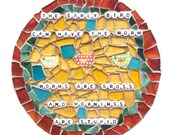 NOT a MORNING PERSON Mosaic Artwork. Need Caffeine. Gift for Housewife.