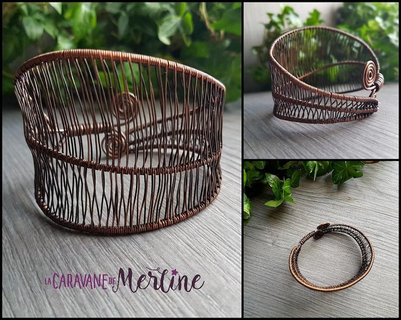 Leaf Bracelet Antique copper Nature Cuff Bracelet Leaves. image 0