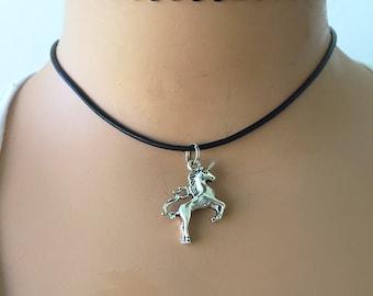 Unicorn Necklace/ Unicorn Choker/ Magical Unicorn Necklace/ Fantasy Pendant Necklace/ Be a Unicorn