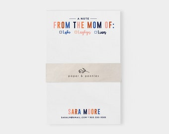 A Note From Home Notepad | Note from Mom | School Notepad | Note to Teacher | Tearaway Notepad | Back to School