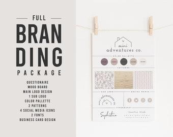 Custom Logo Design | Custom Branding Package | Business Card Design | Business Branding | Social Media | Branding Mood Board | Rebrand
