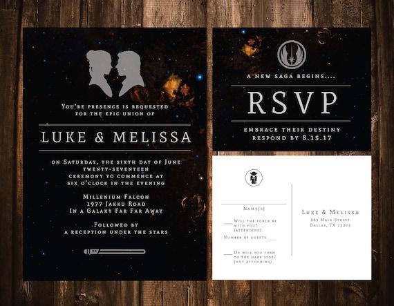 Star Wars Wedding Invitation Wedding Invitation Template Etsy