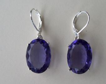 Sterling Silver Earrings - Light Amethyst