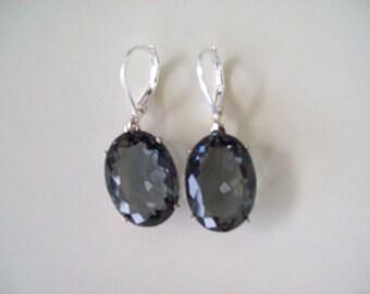 Sterling Silver Earrings - Dove Gray