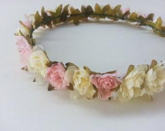 MISAKI (II) Light Pink Floral Headband