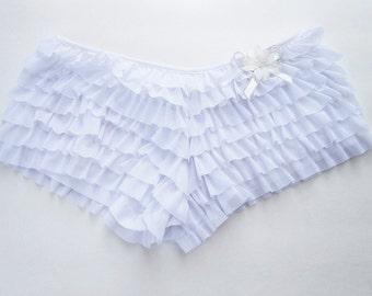 FURIRU (I) Ruffle panties with bow and flower