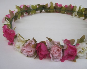 MISAKI (I) Hot Pink Floral Headband