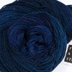 Sparkle Yarn | 100 g 438 yds | Navy Tonal Yarn with Silver Glitter | SW Merino, Nylon, Stellina | Blue Green Purple | Indigo Constellation