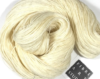 Undyed Sock Yarn | Superwash Wool & Nylon | 100g 400 yds | Natural White | Dyable Wool | Dyeable Yarn
