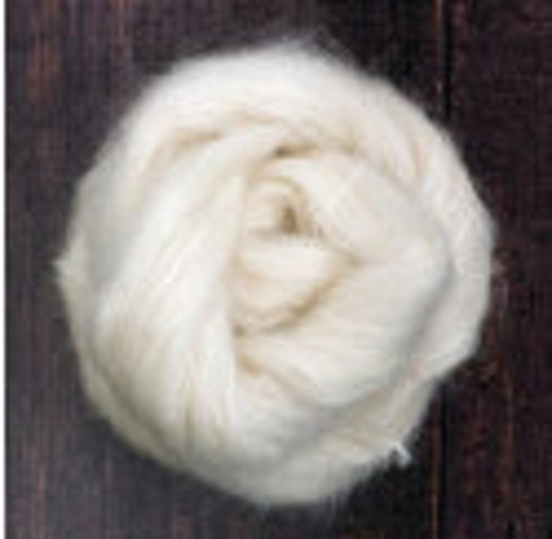 Brushed Kid Mohair Silk Yarn in Lace Weight in White   50 g image 0