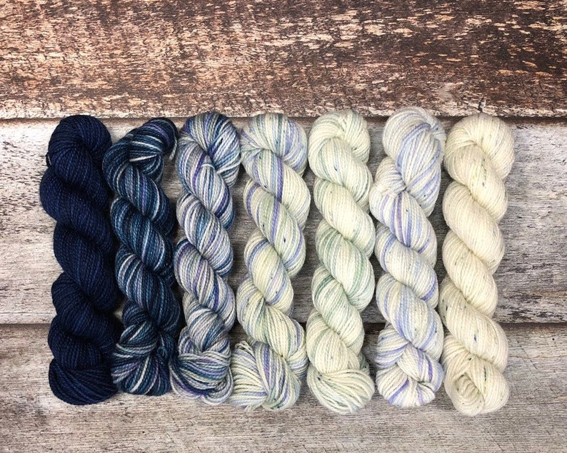 Mini Skein Set  Lakeside Collection  Fingering  Total 140g image 0