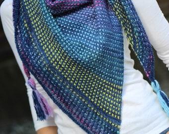 Granville Island Shawl Kit | Designed by Jenny Faifel | Sweater Freak | Knitting Kit | High Twist Singles Fingering Weight | 100% SW Merino