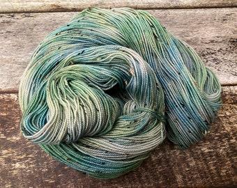 Donegal>> Fingering 100g 438 yd | Tonal Yarn Light Blue Green Teal | Superwash Merino Wool  Nylon | Earth Day Collection - New Beginnings