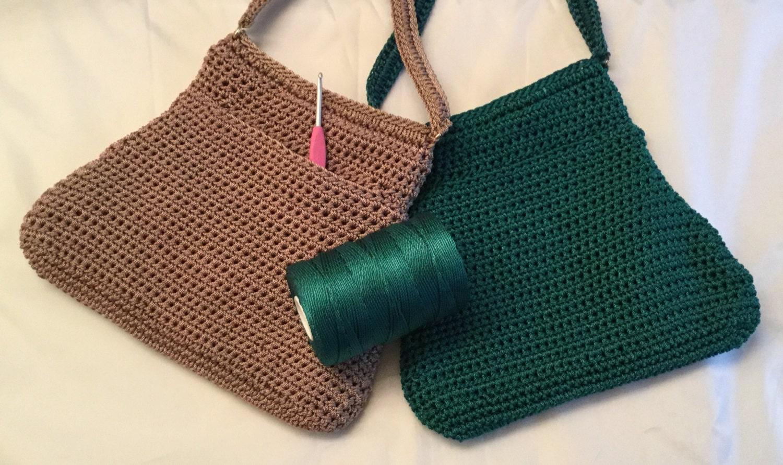 Crochet Pattern Bell Shaped Cross Body Bag Etsy
