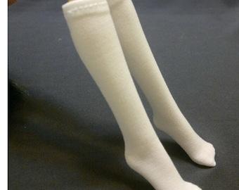 Dolls sock/stockings for Monster high/Barbie/Muse barbie doll - White No.709