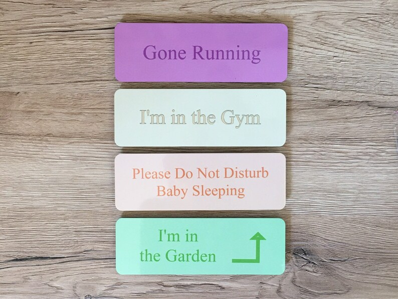 ADD TEXT to COLOURED Personalized Custom Made Sign Door Plaque image 0