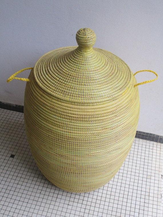 Afrikanische Körbe Sonnenblumen gelb Wäschekorb Cesto XL | Etsy
