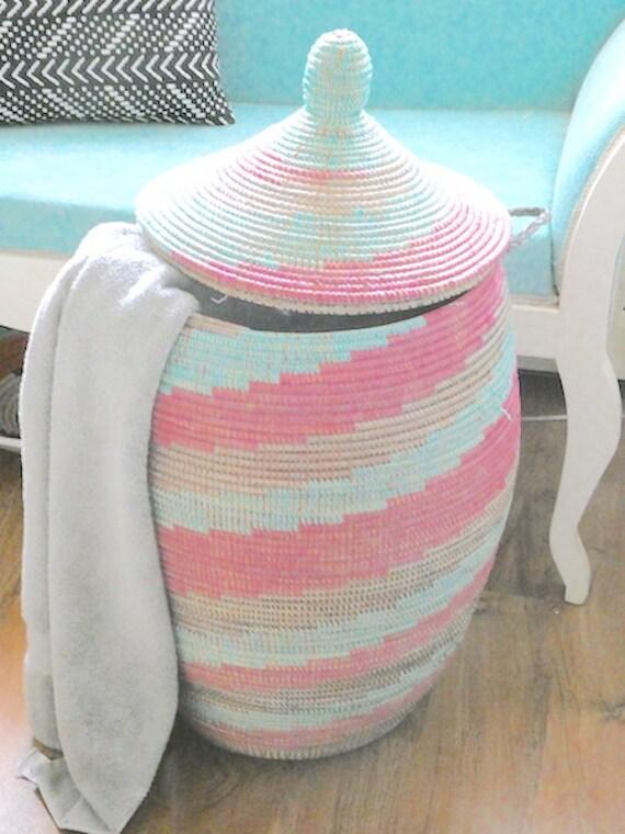 Rosa und Türkis neuen afrikanischen Korb Wäscherei | Etsy