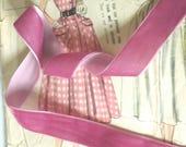 """Rose Pink Velvet Ribbon for Bows, Floral, and Millinery 1"""" inch Valentine's Day Velvet Ribbon"""