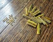 Ribbon Crimp Ends in Gold...