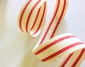 Red and Cream Striped Rib...
