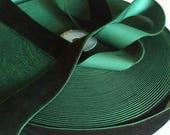 """Dark Green Velvet Ribbon for Bows, Floral, and Millinery 1"""" Wholesale Velvet Ribbon 25 Yards"""
