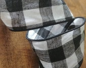 """Buffalo Check Ribbon, Buffalo Plaid Wired Ribbon for Wreaths and Decor 2.5"""" by the yard"""