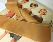 """Tan Velvet Ribbon for Bows, Floral, and Millinery 1.5"""" 38mm"""