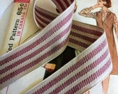 Burgundy Striped Ribbon, ...