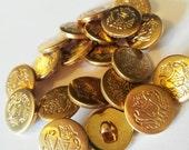 Vintage Brass Buttons Sma...