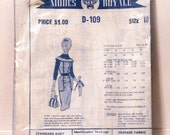 1960s Modes Royale Dress Pattern D-109 Jumper Sheath Day Dress Size 18 Bust 38
