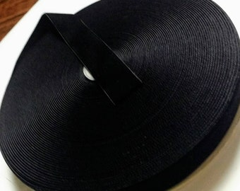 """Black Velvet Ribbon for Bows, Floral, and Millinery 1"""" inch and 1.5"""" inch Wholesale 25 Yards"""