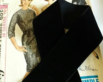 """Black Velvet Ribbon for Bows, Floral, and Millinery 1"""" and 1.5"""""""