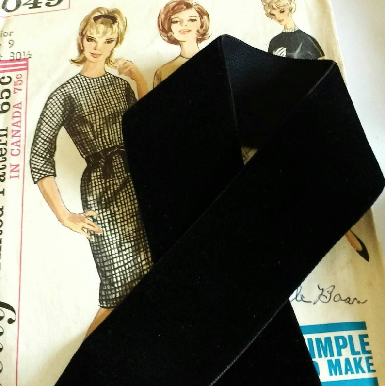 Black Velvet Ribbon for Bows Floral and Millinery 1.5 image 0