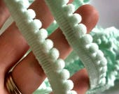 Pale Green Aqua Mini Pom ...