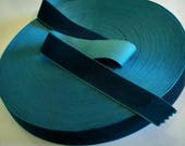 Dark Teal Blue Velvet Rib...