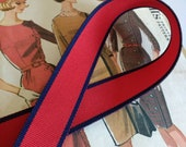 Red and Navy Ribbon, Naut...
